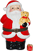 Santa Claus Holding A Teddy Bear Trinket Box