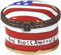 American flag - Mini Enamel Trinket Box