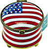 American Flag - Enamel Stamp Holder