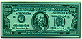 USA One Hundred Dollar Bill Magnet