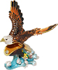 Bald Eagle - Enamel Jeweled Trinket Box, 4.25 L