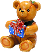 Teddy Bear Jeweled Enamel Trinket Box, 2.5 H