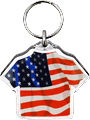USA Flag Acrylic T-Shirt Key Chain