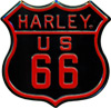 Harley Davidson Route 66 Embossed Tin Magnet