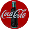 Coke Disc Embossed Tin Magnet