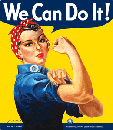 We Can Do It  Large Tin Sign, 13 x15