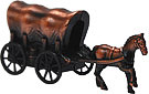 Covered Wagon W/ Horse - Pencil Sharpener