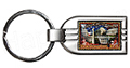 Washington, D.C. Postal Stamp Style Key Chain, Metal