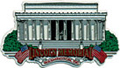 Lincoln Memorial Large Souvenir Rubber Magnet