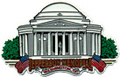 Jefferson Memorial Large Souvenir Rubber Magnet