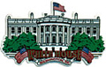 White House Large Souvenir Rubber Magnet