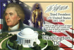 Thomas Jefferson Themed Postcard - 3rd President of the U.S., 4x6