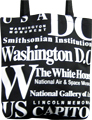 Washington, D.C. Souvenir Letter Canvas Tote Bag, 14.5 L