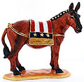 US Democratic Donkey - Enamel Jeweled Trinket Box