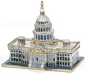 Capitol Building Enamel Jeweled Trinket Box