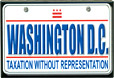 Washington, D.C. Mini License Plate, Fridge Magnet, 3-1/8L