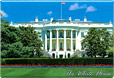 White House Souvenir Metal Magnet, 3-1/8 L