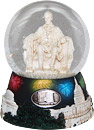 Washington DC Fireworks Lincoln Memorial Musical Snow Globe - 5.5H