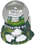 Washington, DC - White House Mini Snow Globe, 2.75 H