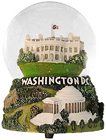 Washington, DC - Musical Snow Globe, 5.5 H
