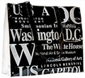 Washington DC B/W Letter Tote Bag, Large