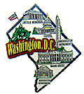Washington D.C. Map - Refrigerator Magnet